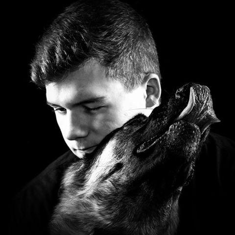 Apollo kisses black and white 1-13-2019